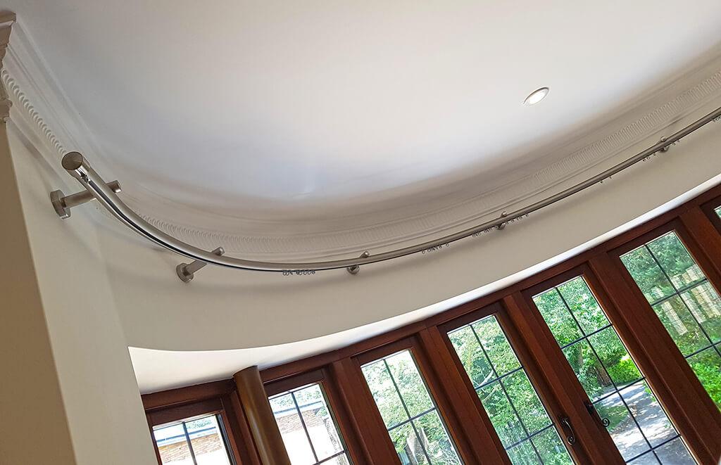 Shaped Metal Curtain Poles